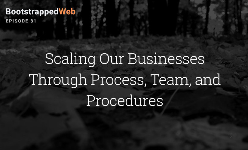 [81] Scaling Our Businesses Through Process, Team and Procedures