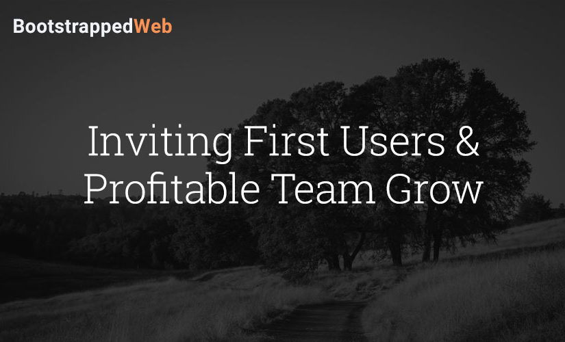 Inviting First Users & Profitable Team Growth