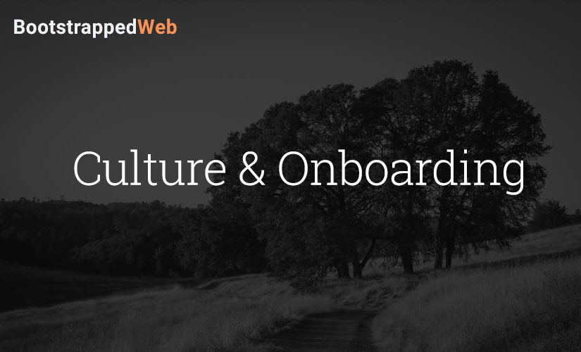 Culture & Onboarding