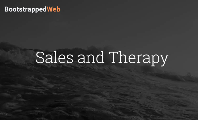 Sales and Therapy